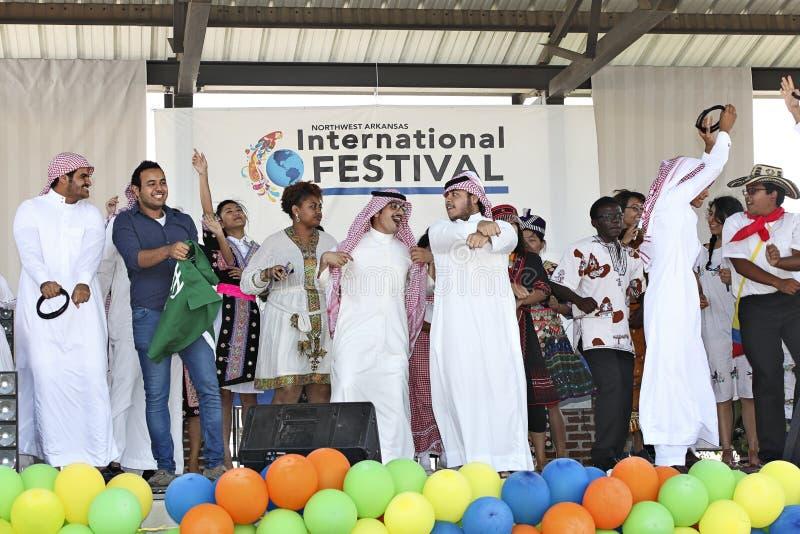 Internationale Festival en Modeshow stock fotografie