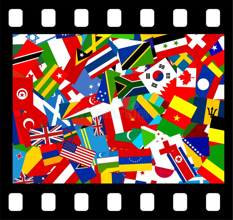 Internationale film vector illustratie