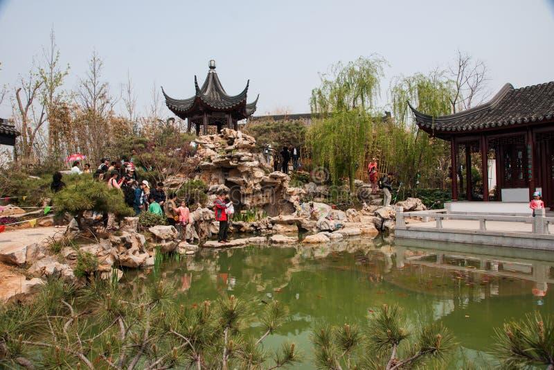 Internationale Gartenbauausstellung 2014 Qingdao, Energieshow stockbilder
