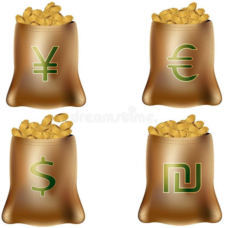 Internationale Geld-Beutel stock abbildung