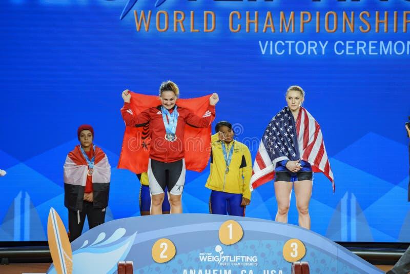 2017 internationale Gewichtheben-Vereinigungs-Weltmeisterschaften stockfoto