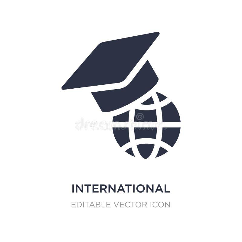internationale graduierte Ikone auf weißem Hintergrund Einfache Elementillustration vom Ausbildungskonzept stock abbildung