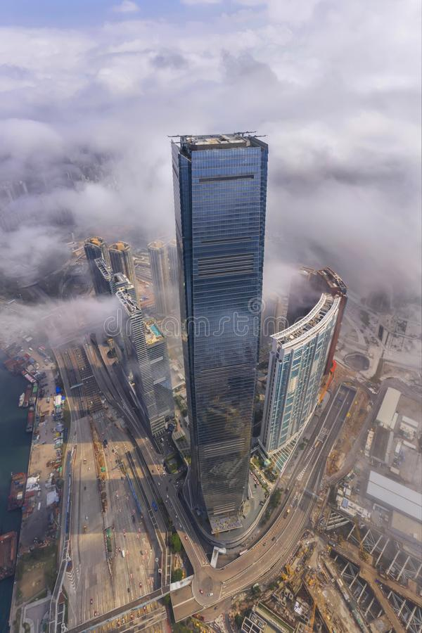 Internationale Handels-Mitte Hong Kong, China stockbild