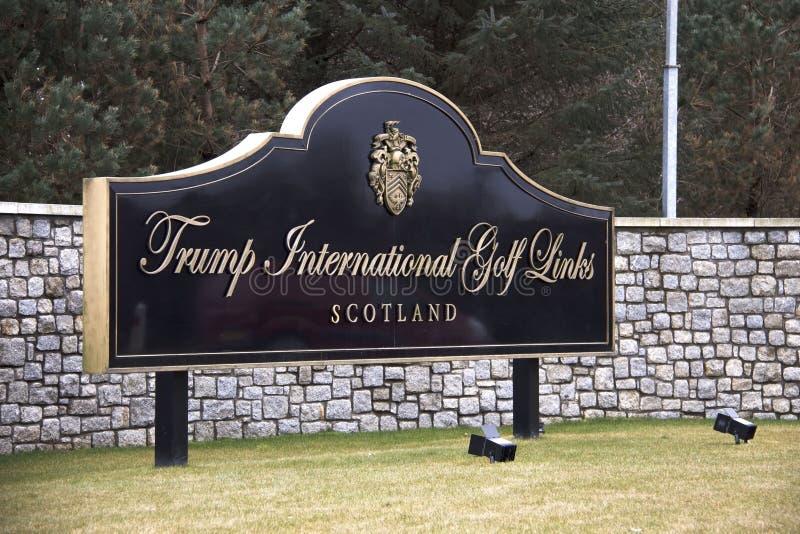 Internationale het Golfverbindingen van Donald Trump Balmedie, Aberdeenshire, Schotland royalty-vrije stock afbeeldingen