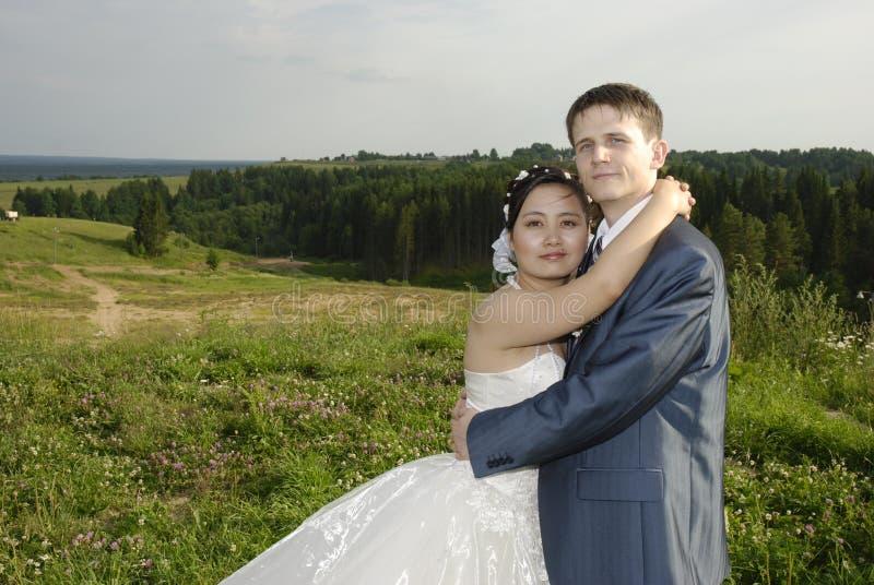 Internationale Hochzeit lizenzfreie stockfotografie