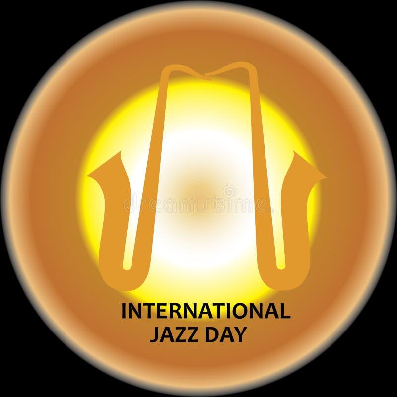 Internationale Jazz Day-Vektorillustration - Datei des Vektor stock abbildung