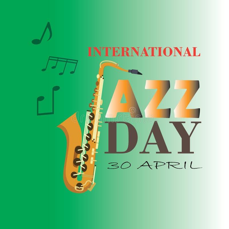 Internationale Jazz Day-Vektorillustration - Datei des Vektor lizenzfreie abbildung