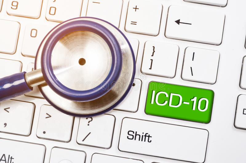 Internationale Klassifikation von Krankheiten und von in Verbindung stehender Gesundheit P lizenzfreie stockfotografie