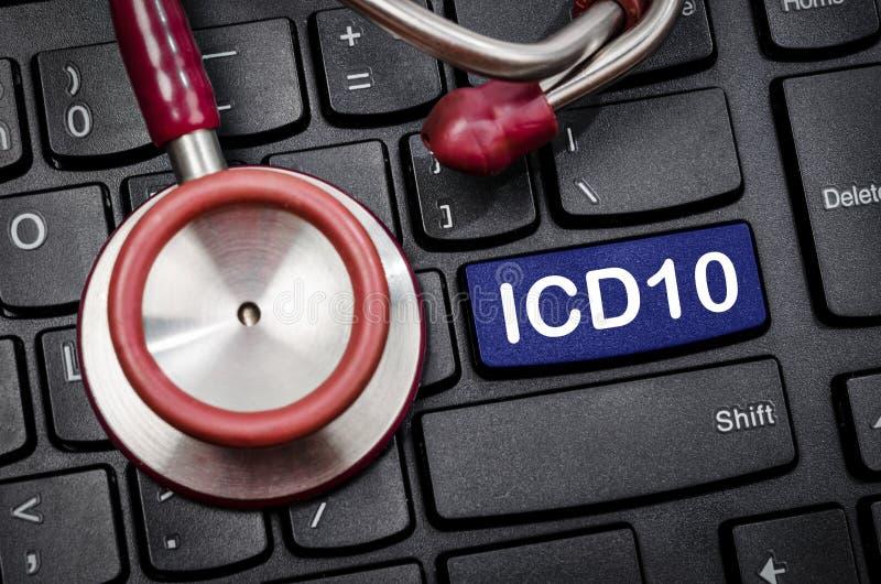 Internationale Klassifikation von Krankheiten und von in Verbindung stehender Gesundheit Prob stockbilder