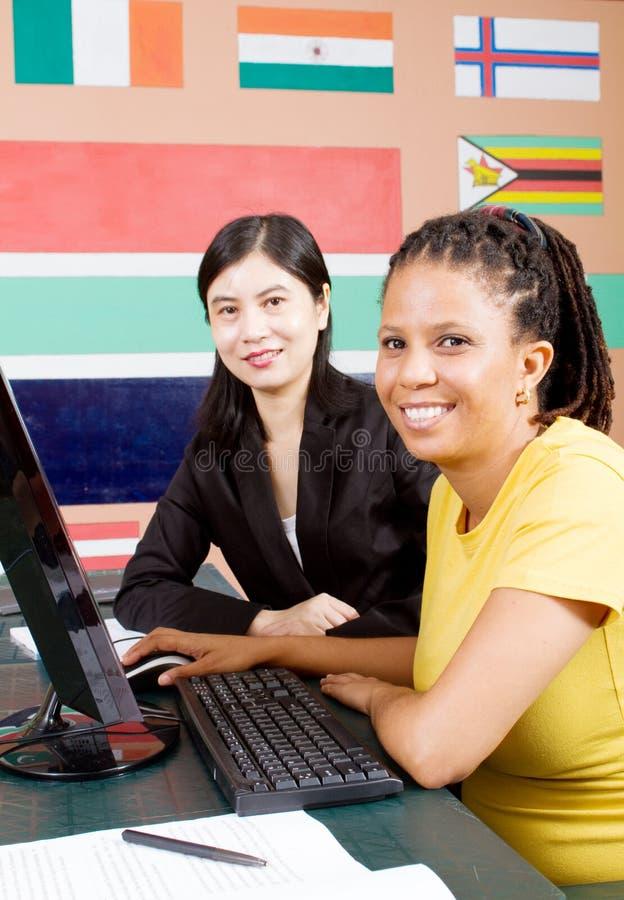 Internationale leraarsstudent royalty-vrije stock fotografie