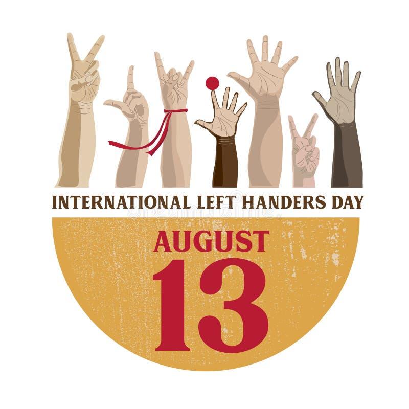 Internationale linker-Handersdag stock illustratie