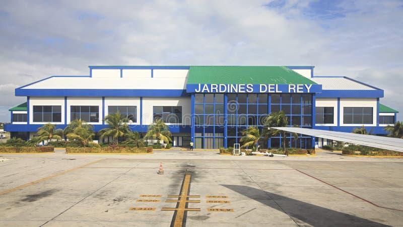 Internationale luchthaven Jardines Del Rey van Cayo Coco. stock foto's