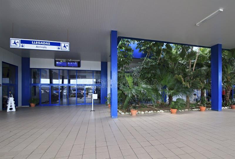 Internationale luchthaven Jardines Del Rey van Cayo Coco. stock fotografie