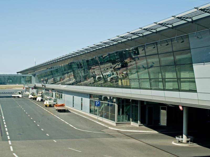 Internationale luchthaventerminal royalty-vrije stock foto