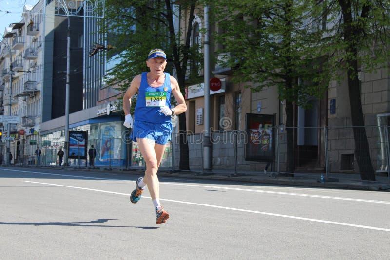 Internationale Marathon van Kharkov 2018 stock afbeelding
