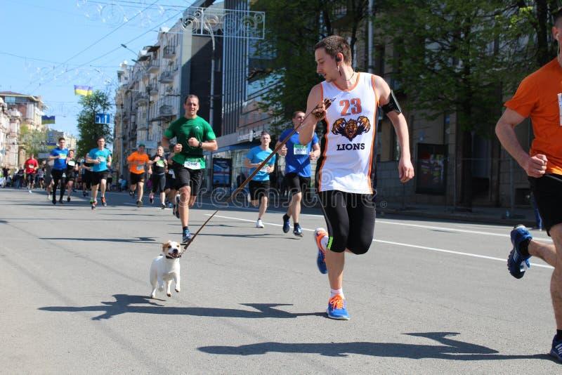 Internationale Marathon van Kharkov 2018 stock foto's
