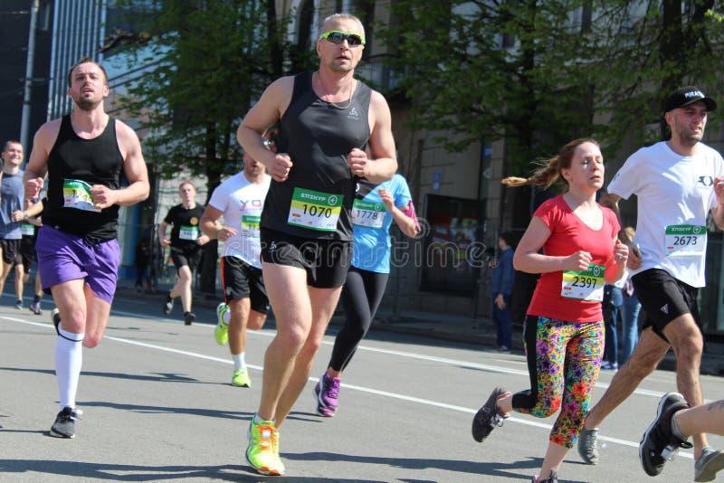 Internationale Marathon van Kharkov 2018 royalty-vrije stock foto