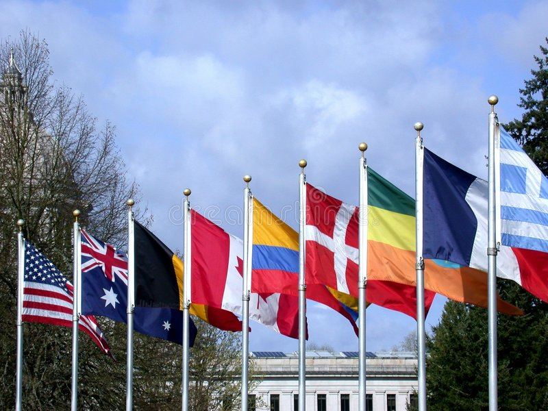 Internationale Mitarbeit stockfotos