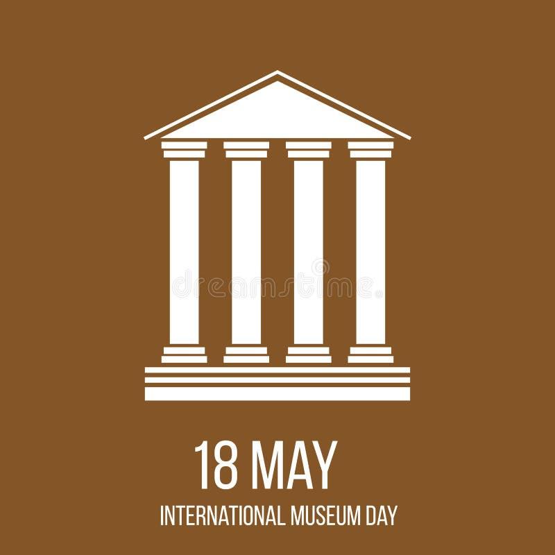 Internationale Museumdag vector illustratie