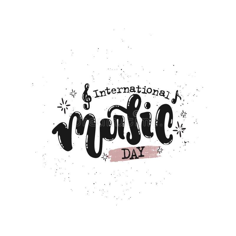 Internationale Muziekdag stock illustratie