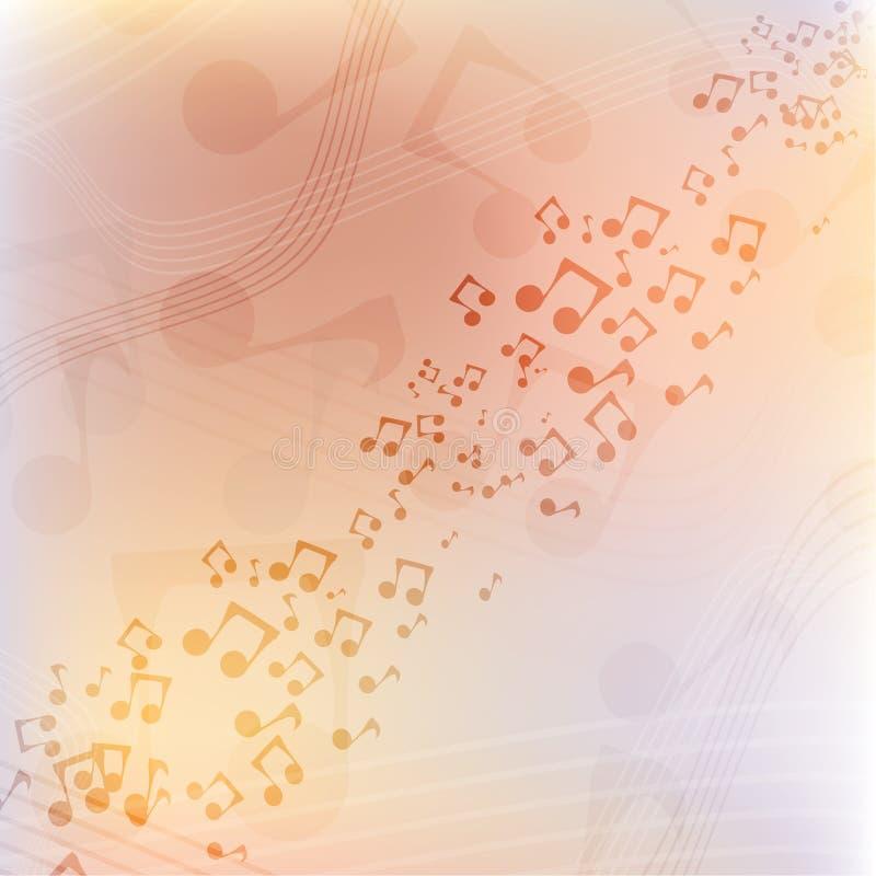 Internationale Muziekdag Veelkleurige muziekvector als achtergrond stock illustratie