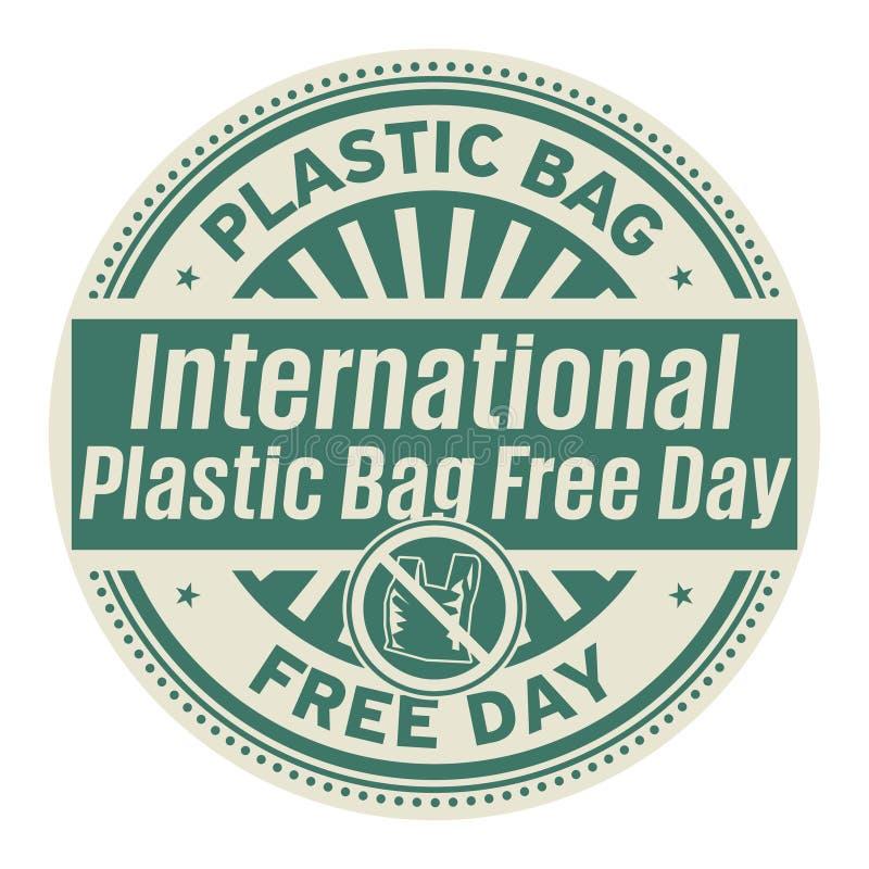 Internationale Plastiktasche geben Tag frei lizenzfreie abbildung