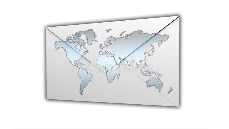 Internationale Postcorrespondentie royalty-vrije illustratie