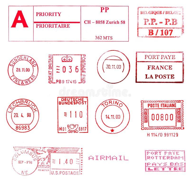 Internationale Poststempel vektor abbildung