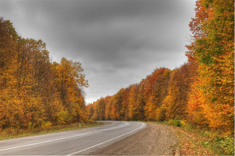 Internationale route naar Roemenië royalty-vrije stock fotografie