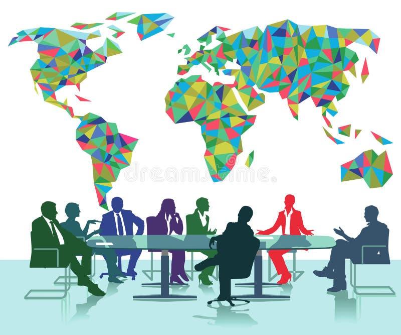 Internationale Sitzung stock abbildung