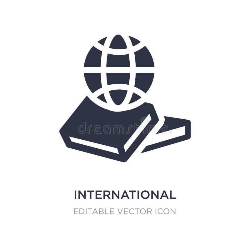 internationale Studienikone auf weißem Hintergrund Einfache Elementillustration vom Ausbildungskonzept stock abbildung