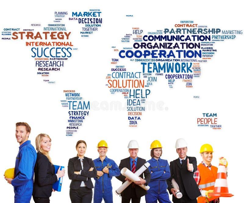 Internationale Teamzusammenarbeit stockfoto