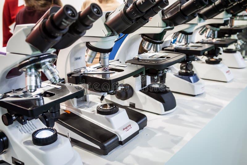 internationale tentoonstelling van Medische apparatuur, medische producten stock foto
