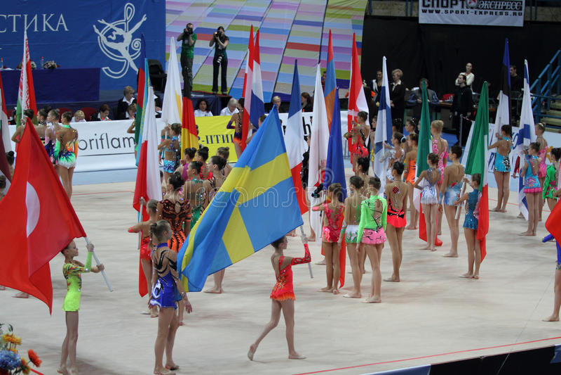 Internationale Toernooien in Ritmische Gymnastiek royalty-vrije stock afbeeldingen