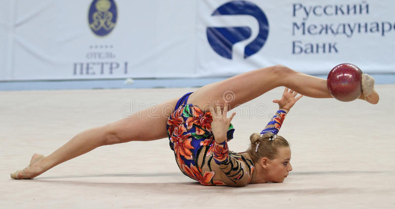 Internationale Toernooien in Ritmische Gymnastiek stock afbeeldingen