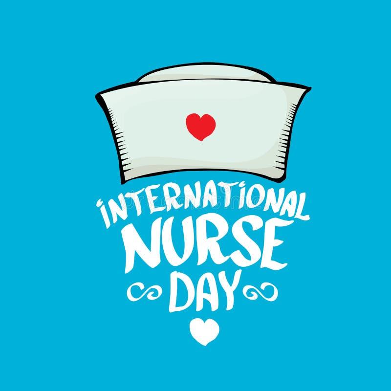 Internationale vector de groetkaart van de verpleegstersdag stock illustratie