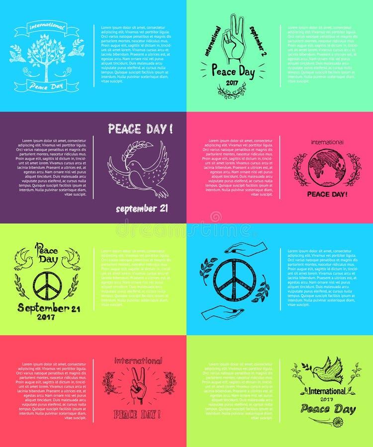 Internationale Vectorillustratie 8 van de Vredesdag Pics vector illustratie