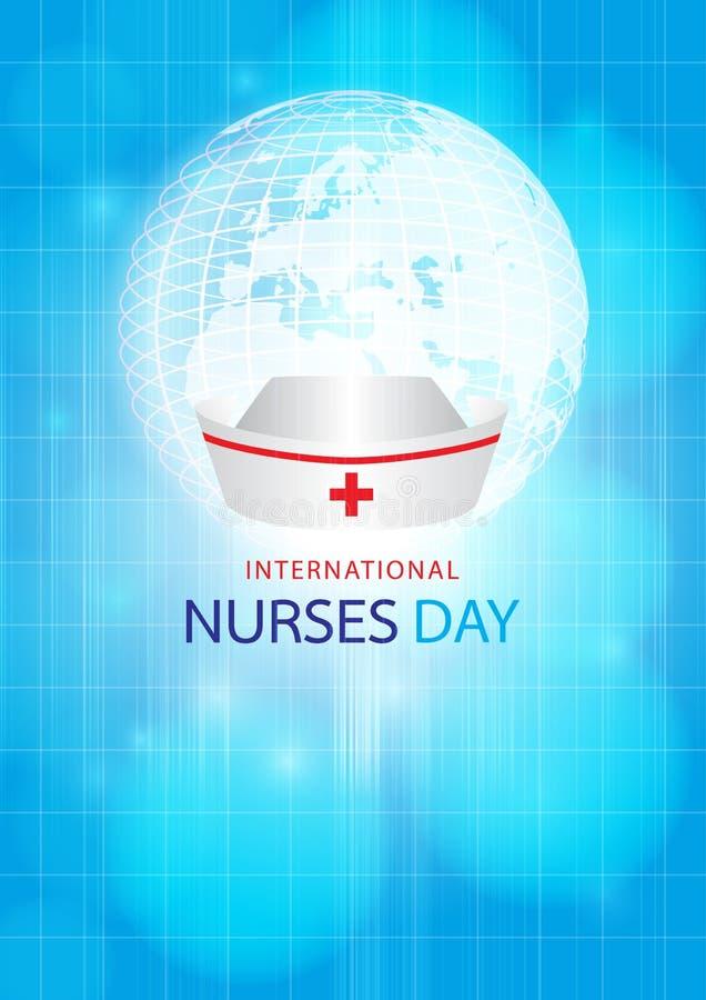 Internationale verpleegstersdag stock illustratie