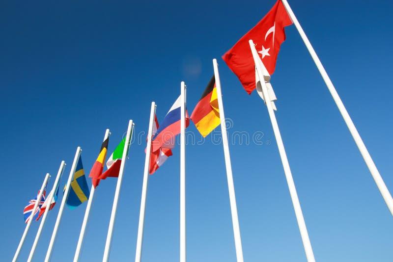 Internationale Vlaggen. stock afbeeldingen