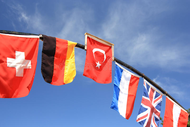 Internationale vlaggen. royalty-vrije stock foto