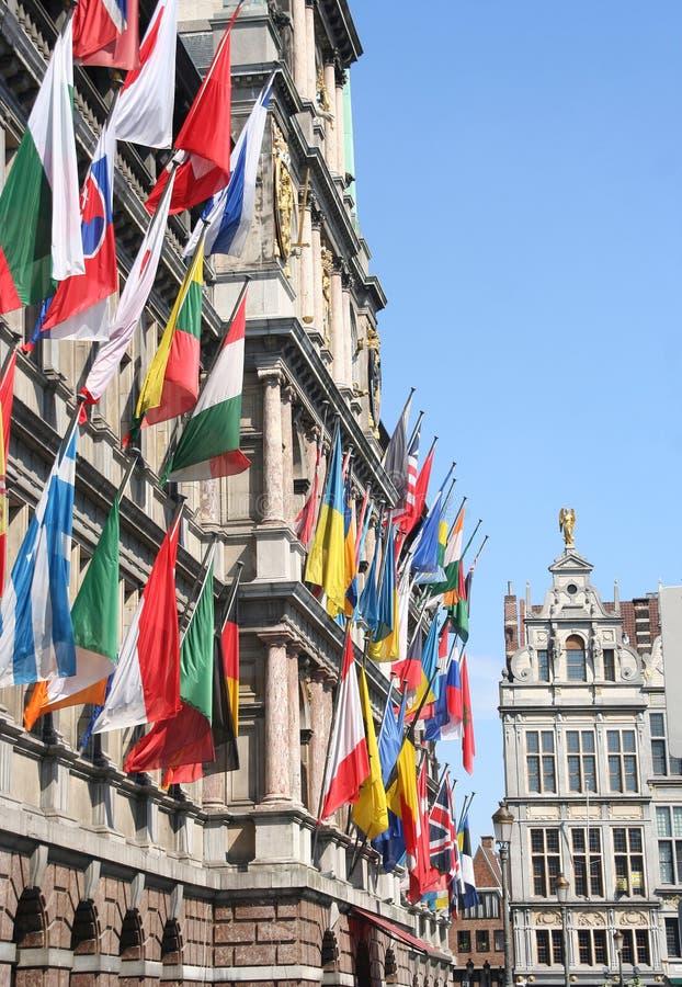 Internationale Vlaggen Royalty-vrije Stock Fotografie