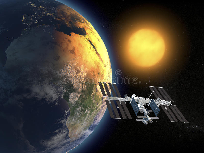 Internationale Weltraumstation stock abbildung