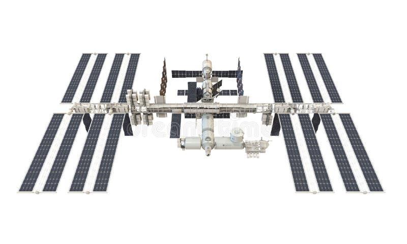 Internationale Weltraumstation lokalisiert lizenzfreie abbildung