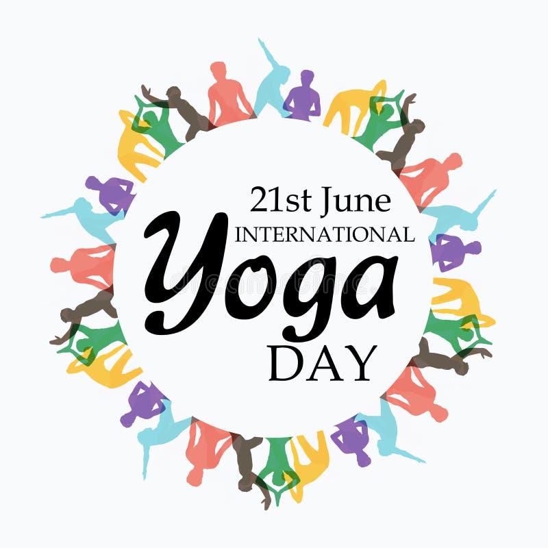 Internationale Yogadag stock afbeelding