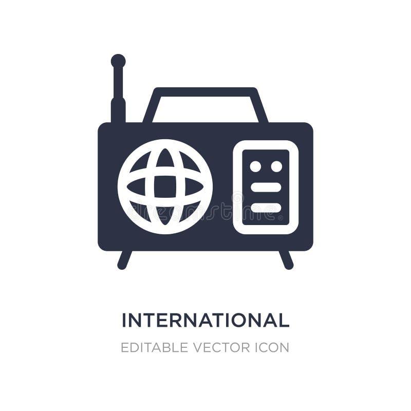 internationale Zeitschrift durch Radioikone auf weißem Hintergrund Einfache Elementillustration vom Werkzeug- und Gerätkonzept stock abbildung