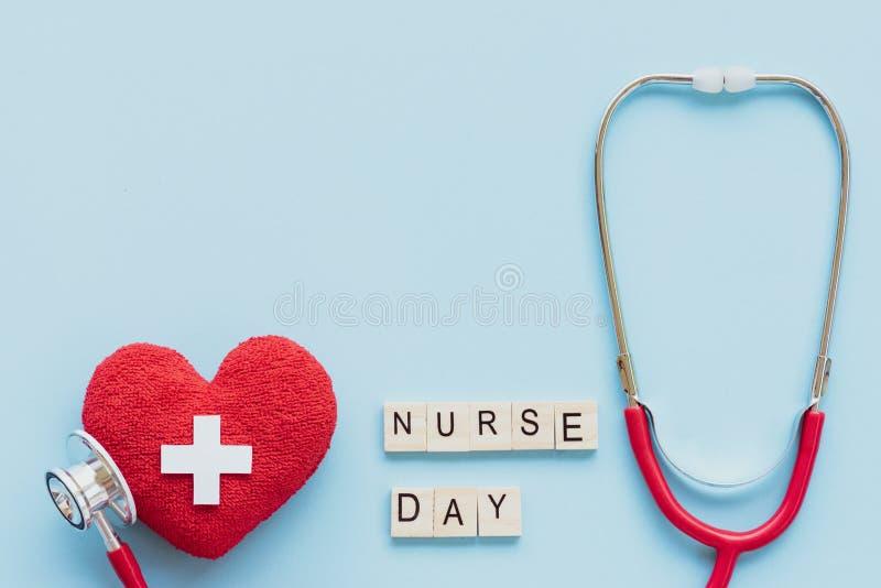 Internationalen vårdar dagen, Maj 12 Sjukvård- och läkarundersökningbegrepp arkivbilder