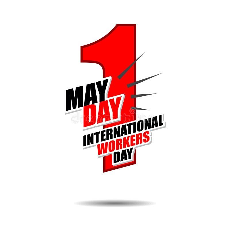 1 internationaler Arbeitskrafttag flat-05 des Maifeiertags lizenzfreie abbildung