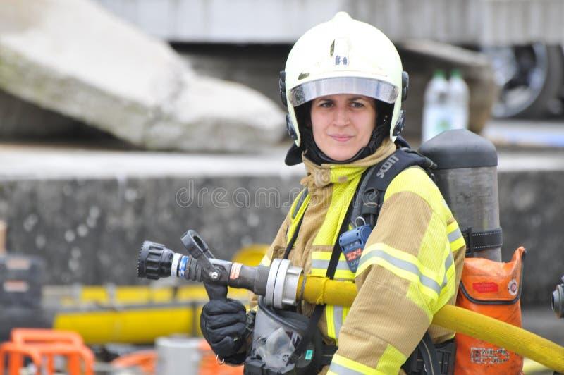 2. internationaler Feuerwehrmann Festival, Interlaken stockbilder