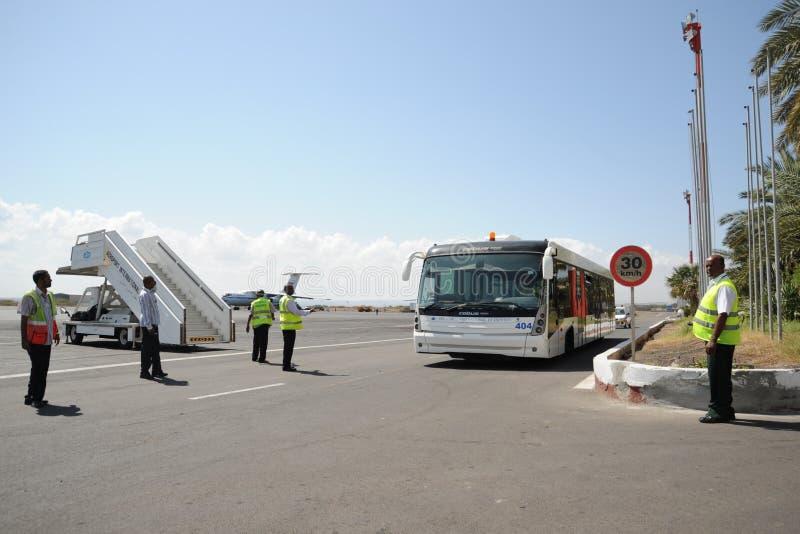 Internationaler Flughafen in der Stadt von Dschibuti. stockbilder