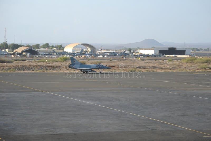 Internationaler Flughafen in der Stadt von Dschibuti. stockbild